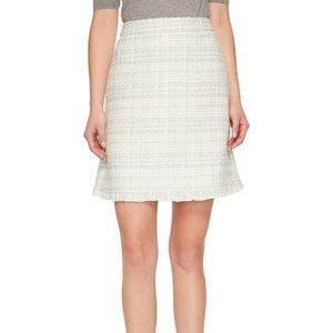 Kate Spade Sparkle Tweed Skirt cream white size 0